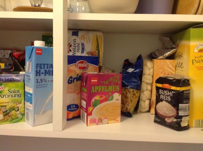 Alles, was mein kleiner Küchenschrank hergibt...